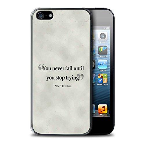 Stuff4 Hülle / Case für Apple iPhone SE / Henry Ford Muster / Berühmte Zitate Kollektion Albert Einstein