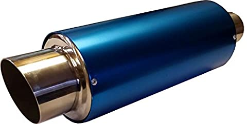 XtremeAuto® 3.5'' NEON BLUE Stainless Steel Exhaust Trim Tail BACK