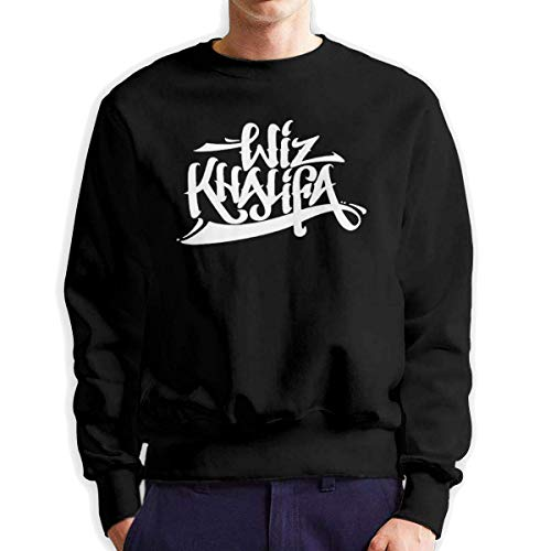 SASJOD Männer Hoodies Wiz-Khalifa Men's Adult Crew Neck Sweatshirt Fashion Long Sleeve Pullover -