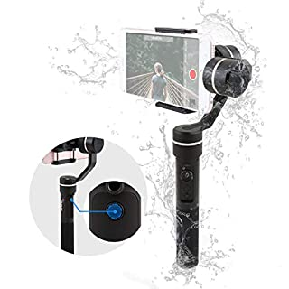 FeiyuTech SPG 3-Achsen-Gimbal(spritzwassergeschützt),3-Achsen Schwebestativ mit Smart Portrait Modus, Geignet für iPhone, Samsung, Huawei Smart Phones GoPro HERO5 und Sports Kameras, 360-Rotatio