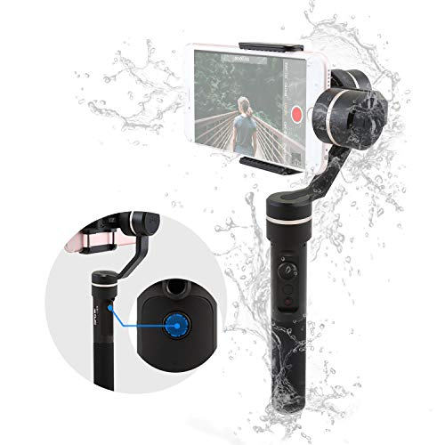 FeiyuTech SPG a 3 assi Gimbal Palmare,(Splash-Proof Version) Gimbal con barra di prolunga per iPhone, Samsung, smartphone HUAWEI, GoPro 5/4/3 e fotocamere Action