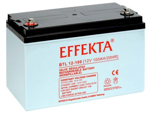 Effekta AGM Akku Batterie Typ BTL 12-100 12V 100Ah Innengewinde M8
