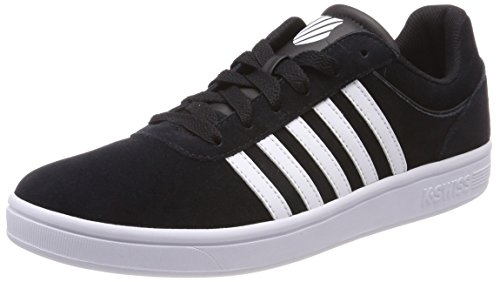 K-Swiss Herren Court CHESWICK SDE Sneaker, Schwarz (Black/White 002), 43 EU