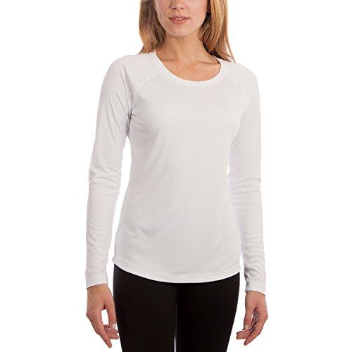 Vapor Apparel Damen UPF 50+ UV Sonnenschutz Langarm Performance T-Shirt X-L Weiß