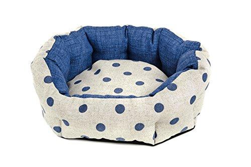 Ferribiella-Cesta Ovalada Lunares L Azul Perros