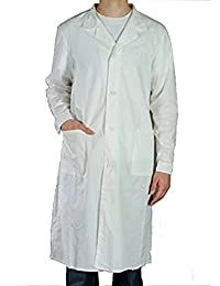 Blouse blanche Laboratoire 100% coton - chimie pharmacie medicale hygiene