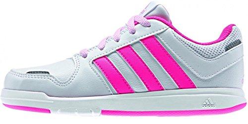 adidas  LK Trainer 6, Chaussures mixte enfant Blanc/rose
