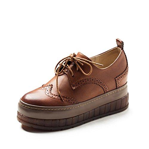 Aumentato nei panni di moda/Platform high heel shoes con testa rotonda-C Lunghezza (Plaid High Heel)