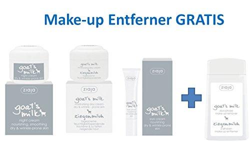 Ziegenmilch Gesichtspflege-Set mit GRATIS MAKE-UP ENTFERNER