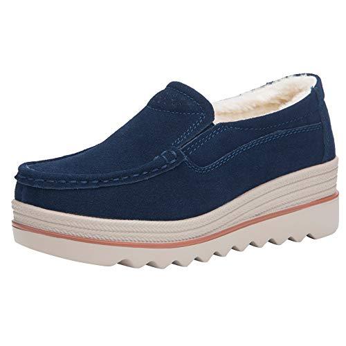 Toasye Fashion Damen Wohnungen Schuhe Sneakers Wildleder Freizeitschuhe Warm Schuhe halten