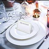 Partycards 50 Tischkarten/Platzkarten DIN A7 für Hochzeit, Geburtstag, Kommunion, Taufe (DIN A7, Rahmen Grün) - 7