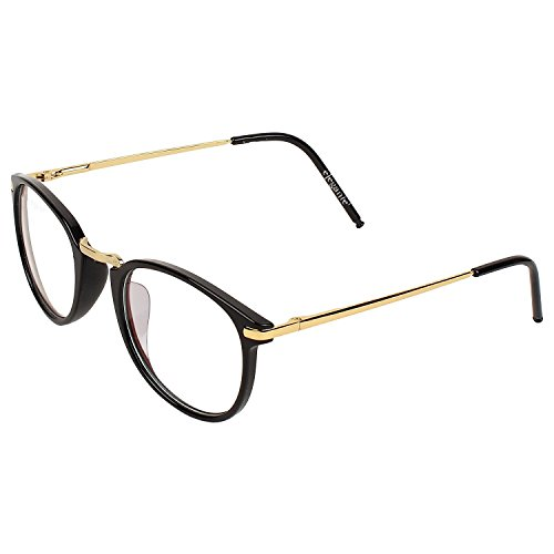 Elegante Offer Golden Frame Anti-glare Round Sunglasses for Men & Women (Model : elt-15003/ARC)