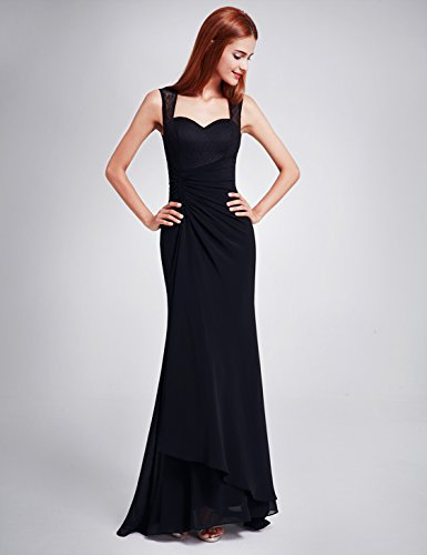 Ever Pretty Damen Cocktail Kleid Schwarz