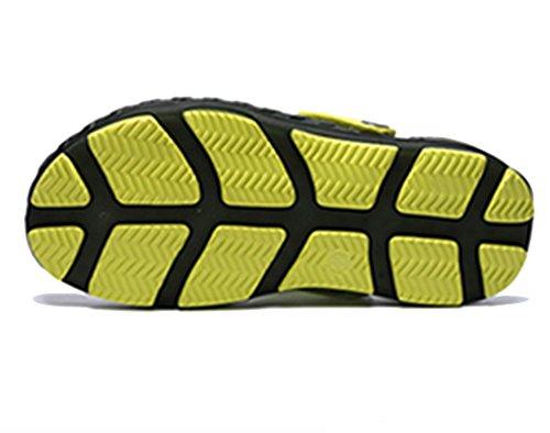Zapatillas De Ocio Sooneeya Zapatillas De Ventilación Para Hombres Zapatillas Resistentes Al Impacto Sandalias Impermeables De Verano Verde Oscuro