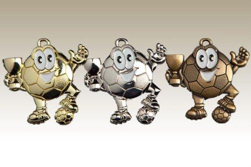 Kindermedaille 9147 silber - Medaillen für Kinder / Kindergeburtstag Fußball
