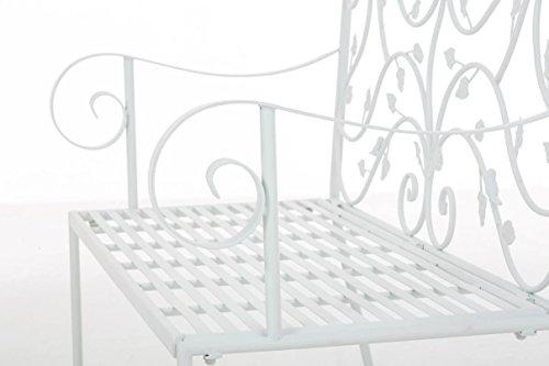 CLP Gartenbank MAGDA im Landhausstil, Eisen lackiert, 106 x 52 cm Weiß - 7