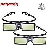 2 Pack Detachable 144Hz 3D Active Shutter Glasses for DLP-Link 3D Projectors