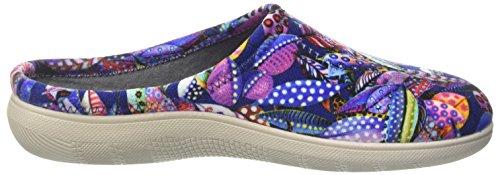 INBLU Blupuff Spugna, Pantofole Aperte sulla Caviglia Donna Multicolore (Blu)
