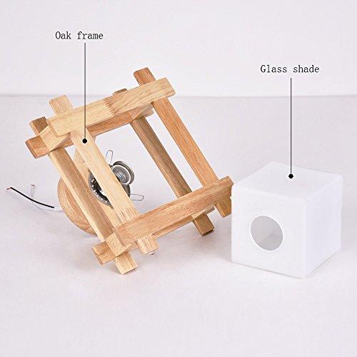 Orientalische Decken-ventilatoren (Moderne Deckenleuchte Holz Decke Pendelleuchte Glas Lampenschirm Für Schlafzimmer Wohnzimmer Flur E27 Sockel (ohne Lampen))