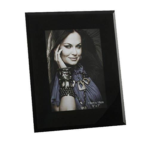 Cadre photo en verre noir (13 x 18 cm)