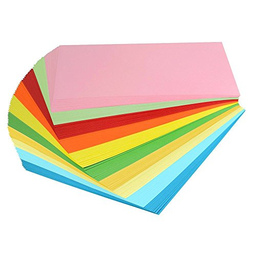 Apestool Buntpapier Farbigen A4 Kopierpapier Papier mehr Spaß am Basteln Gestalten Dekorieren Zuschnitt-Papier - Premium - 100 Blatt (Bunte)