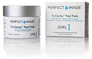 Tri-Clarity Peel Pads Enhanced with Salicylic | Mandelic | Botanical Blend by PERFECT IMAGE