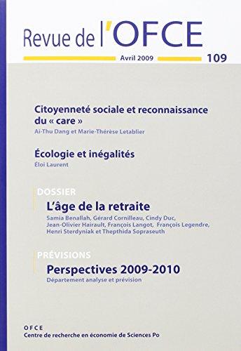 Revue de l Ofce 109 Avril Juin 2009