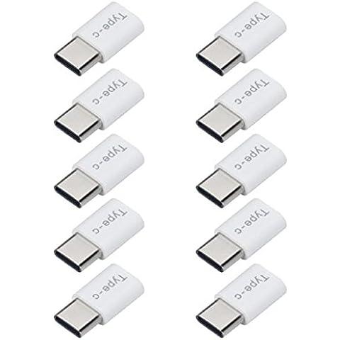 Sannysis USB-C Tipo-C to Micro USB Datos adaptador de carga para Huawei P9 (10PCS)