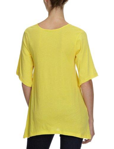 Bobi Damen T-Shirt 525-08060, Rundhals Gelb (Banana)