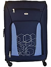 Timus Morocco Spinner Blue 75 Cm 4 Wheel Strolley Suitcase For Travel (Large Check In Luggage)