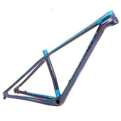 HO-TBO Fahrradrahmen, 18K Carbon Mountain Rahmen Cross Country Farbwechsel Mountain Bike Carbon Rahmen Schwarz Make The reiten Besser (Farbe : Schwarz, Größe : 29Inch) -
