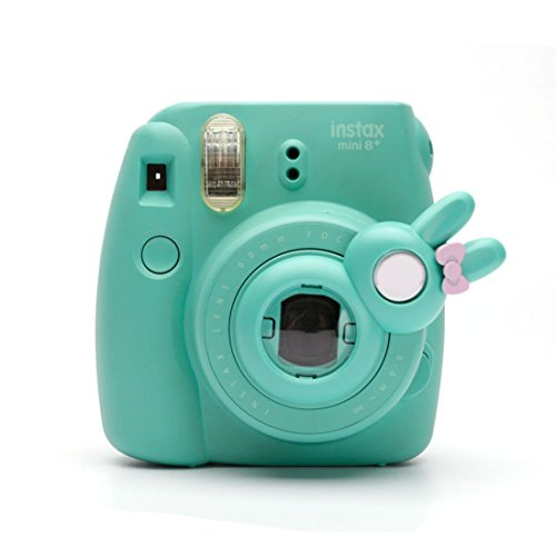 Süßes Häschen Selfie und die Nahaufnahme Lens für Fujifilm Instax Mini8 Mini14s Hellokitty Instant Kamera(Minze Häschen) Hello Kitty Kamera
