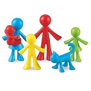 Learning Resources- Figuras de la Familia All About, Bolsa de 24, Color (LER3660)