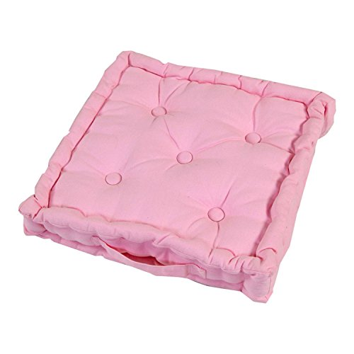 Homescapes Coussin de Chaise de Couleur Rose Fait en 100% Coton de 40x40 cm pour Chaise de Salon et Chaise de Jardin