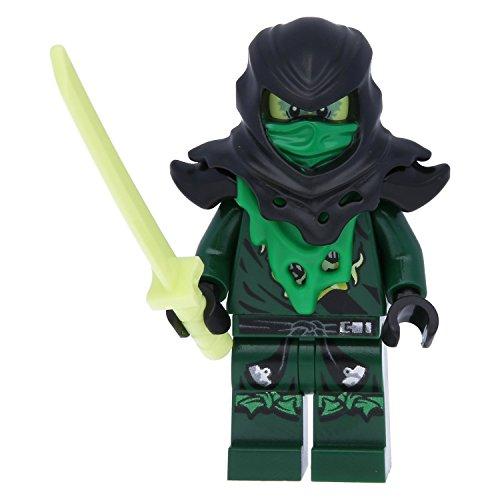 LEGO® Ninjago Minifugur Evil Green Ninja NEU aus Set 70732 inkl. seltenem Ninja Schwert + GRATIS 1 exklusiver Ninja (Ninja Green)
