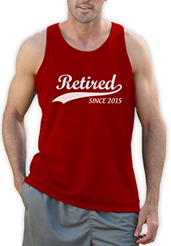 Retired Since 2015 Ruhestandsmotiv Tank Top Rot