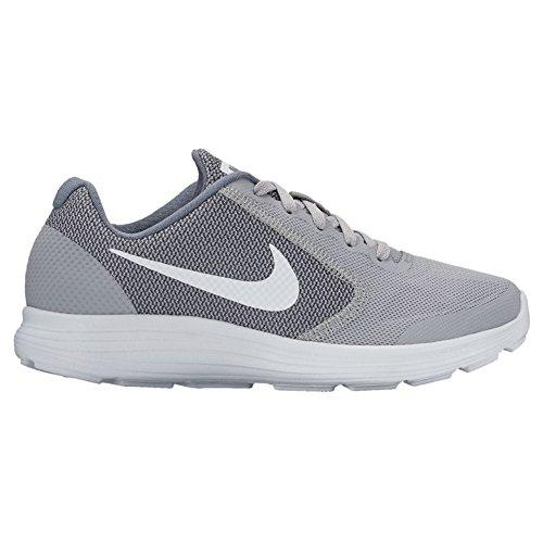Nike Revolution 3 (Gs) Scarpe da ginnastica, Bambini e ragazzi Grigio - Bianco