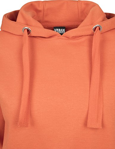 Urban Classics Ladies Interlock Short Hoody, Sweat-Shirt à Capuche Femme Orange (Rust Orange 1150)