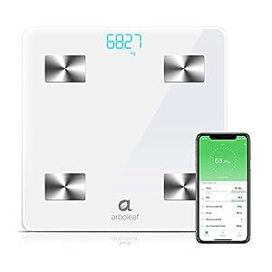 Báscula Inteligente de Baño, Escala Grasa Corporal Bluetooth Balanza Digital Báscula IMC Inalámbrica Analizador de…