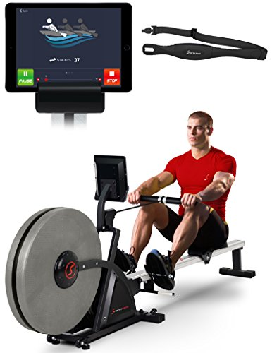 Sportstech RSX600 Máquina de Remo Profesional Aire Magnético Accionamiento Smartphone Control App 12...