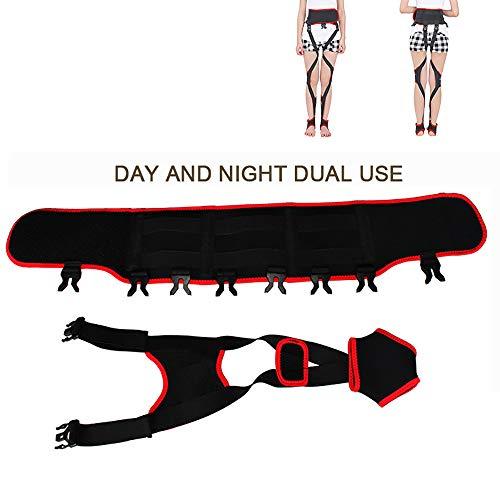 ZLMFBMStom Einstellbar O/X-Typ Verstellbare Beinhaltung Korrektur Klopfen Knie Form Bandage Band,BeinkorrekturgüRtel ,X/O Form Bein Korrektur GüRtel, FüR Erwachsene Und Kinder,M