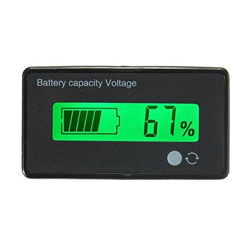 ILS - 12V/24V/36V/48V 8-70V LCD Blei-Säure-Lithium-Batterie-Kapazitäts-Anzeige Digital Voltmeter (Batterie Voltmeter)
