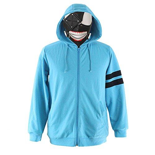 Preisvergleich Produktbild Vivian Anime Tokyo Ghoul Kostüm Kaneki Ken T Shirt Cosplay Lässige Hoodie Sportbekleidung,Größe XL:(175-180 CM)