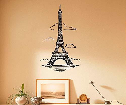 Wandtattoo, Motiv Eiffelturm, Vinyl, Paris-Symbol, Heimdekoration Frankreich, 5p01is