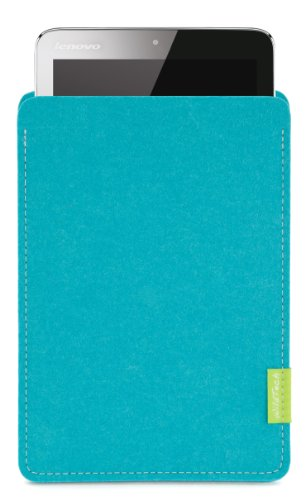 WildTech Sleeve für Lenovo A7-50 Tablet (A3500) Hülle Tasche - 17 Farben (Made in Germany) - Türkis