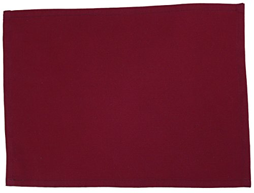 Baumwolle Outdoor-tisch (beties Farbenspiel Platzset ca. 35x45 cm in interessanter Größen- und Farbauswahl 100% Baumwolle für eine fröhlich Stimmung Uni Farbe (hibiskus beere))