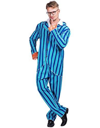 JANDZ Karneval Kostüme. Halloween Party Kostüme: Stilvolles Männeroutfit: Tänzer, Austin Powers, Gangster