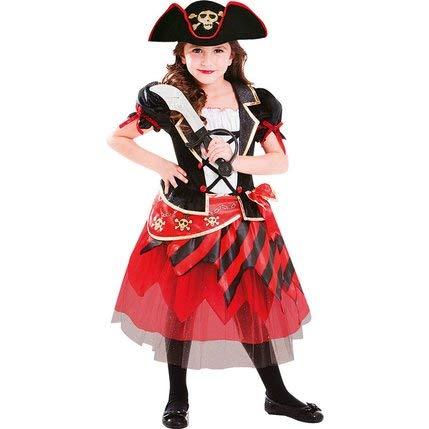 vestimento Carnevale Halloween Principessa Pirata 3-5 Anni ()