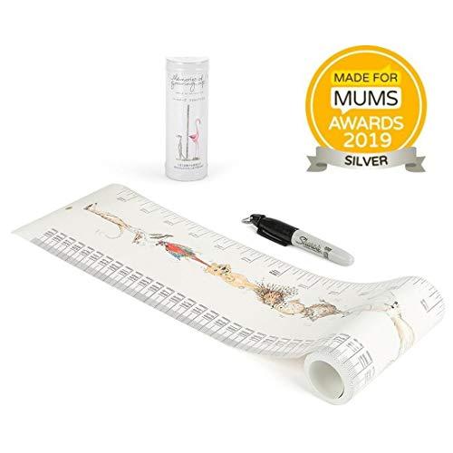 Talltape (Tiere) - Tragbare, Roll-up Messlatte Plus 1 Sharpie Mini Marker Pen, um Kinder von der Geburt bis zum Erwachsenenalter messen zu können - Auswahl an Designs
