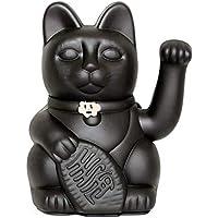 Gato de la Suerte chino. Lucky Cat. Maneki Neko. COLOR NEGRO 12x9x18cm